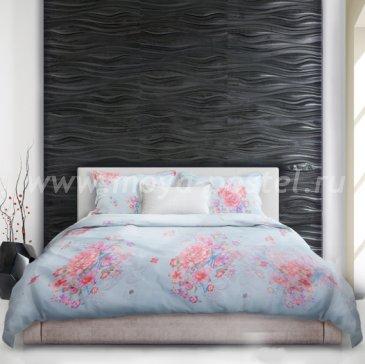 Голубое постельное белье «Nariko» (Неженка), евро в интернет-магазине Моя постель