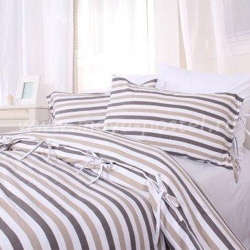 Двуспальное постельное белье Mon в полоску, без простыни в интернет-магазине Моя постель