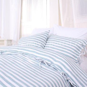 Постельное белье Nobe в полоску без простыни, двуспальное в интернет-магазине Моя постель
