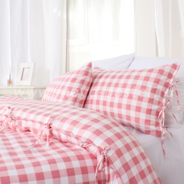 Постельное белье в клетку Fredericia без простыни, евро макси в интернет-магазине Моя постель