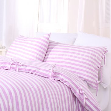 Лиловое постельное белье Bellinge без простыни, двуспальное в интернет-магазине Моя постель