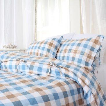 Клетчатое постельное белье Lillerod без простыни, двуспальное в интернет-магазине Моя постель
