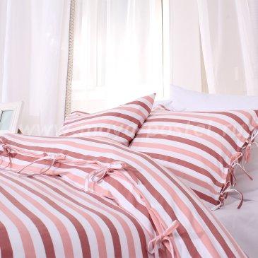 Постельное белье в полоску Aabenraa без простыни, полуторное в интернет-магазине Моя постель