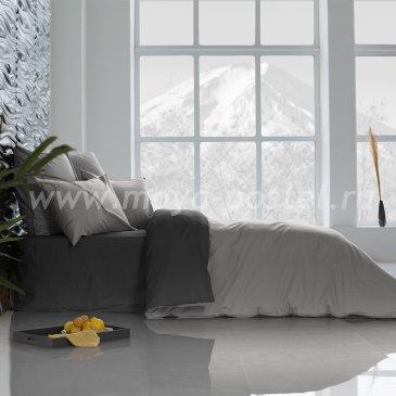 Постельное белье: Уголь + Темно-Серый (семейное) в интернет-магазине Моя постель