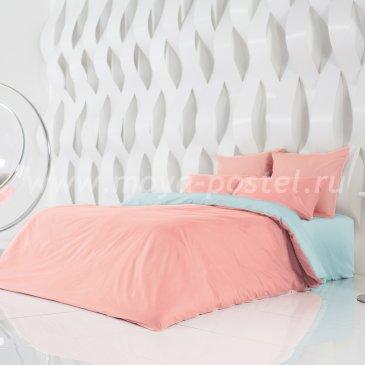 Постельное белье Perfection Цвет: Цветущий Георгин + Небесно Голубой (семейное) в интернет-магазине Моя постель