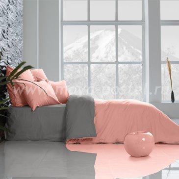 Постельное белье: Цветущий Георгин + Темно-Серый (семейное) в интернет-магазине Моя постель