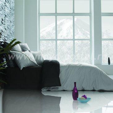 Постельное белье Perfection Цвет: Уголь + Туманная Гавань (семейное) в интернет-магазине Моя постель