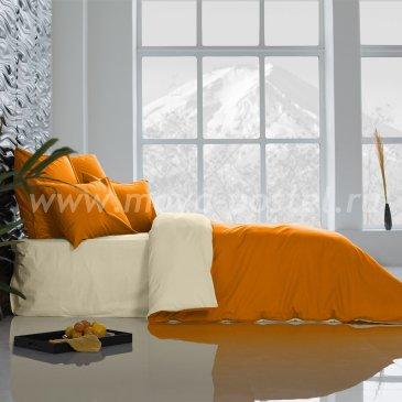 Постельное белье: Охра + Ветка Ванили (семейное) в интернет-магазине Моя постель