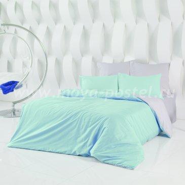 Постельное белье: Туманная Гавань + Небесно Голубой (семейное) в интернет-магазине Моя постель
