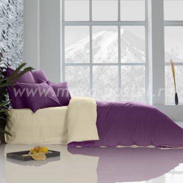 Постельное белье: Ультрафиолетовый + Ветка Ванили (семейное) в интернет-магазине Моя постель
