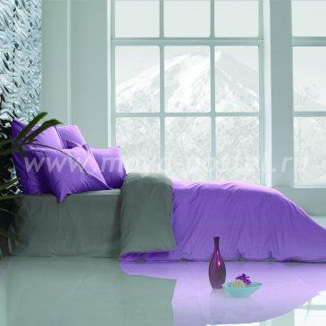 Постельное белье: Темно-Серый + Лавандовый (семейное) в интернет-магазине Моя постель