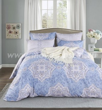 Полуторный комплект постельного белья из сатина C271 (70*70) в интернет-магазине Моя постель