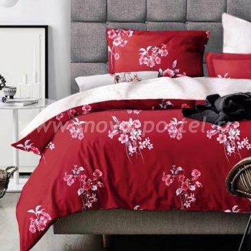 КПБ 7th AVENUE (коллекция Fiori) touch сатин Wine bouquet / Винный букет, евро в интернет-магазине Моя постель