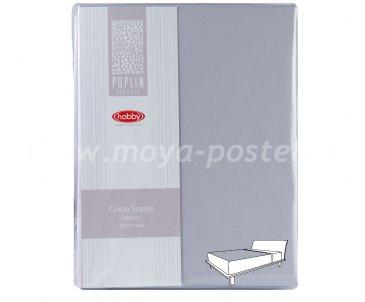 Простынь на резинке 180*200см, св.серый, 100% Хлопок в интернет-магазине Моя постель