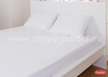 Набор из простыни на резинке (160x200) и наволочек (50x70*2), белый, 100% Хлопок в интернет-магазине Моя постель