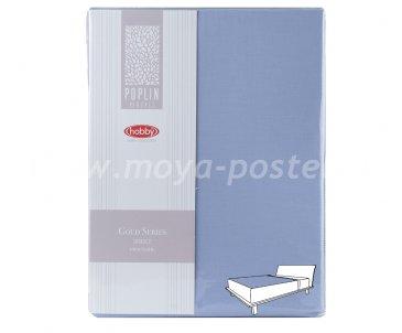 Простынь на резинке 180*200см, св.голубой, 100% Хлопок в интернет-магазине Моя постель