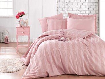 Семейное постельное белье «VALERIAN» розового цвета, сатин в интернет-магазине Моя постель