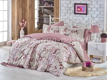 Розовое постельное белье «IRMA» из сатина, евро в интернет-магазине Моя постель