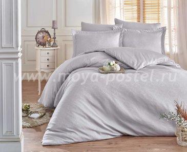 Евро комплект постельного белья «DAMASK», серый, сатин-жаккард в интернет-магазине Моя постель