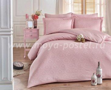 Евро комплект постельного белья «DAMASK», цвет пудры, сатин-жаккард в интернет-магазине Моя постель