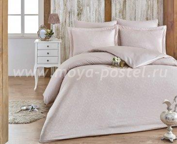 Евро комплект постельного белья «DAMASK», светло-бежевый, сатин-жаккард в интернет-магазине Моя постель