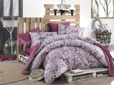 Лиловое постельное белье «IRMA» из сатина, евро в интернет-магазине Моя постель