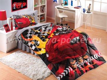 """Комплект постельного белья 1,5 сп. (Евро) поплин """"CAR RACING"""", красный, 100% Хлопок в интернет-магазине Моя постель"""