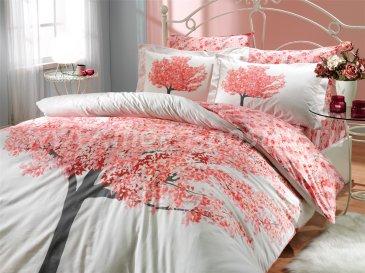 Двуспальное постельное белье «FLORENTINA», персиковое, поплин в интернет-магазине Моя постель