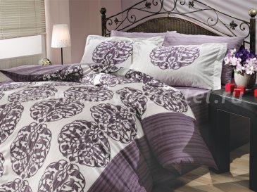 Лиловое постельное белье «BELINDA» из поплина, полуторный размер в интернет-магазине Моя постель