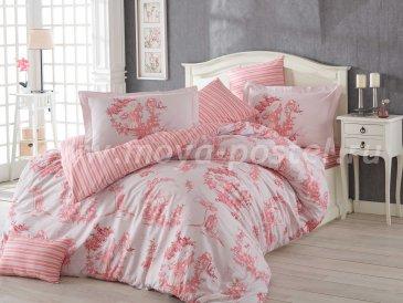Постельное белье евро размера «VANESSA» из поплина, розовое в интернет-магазине Моя постель