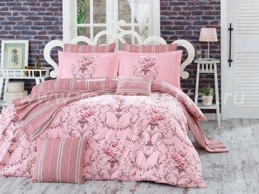 Розовое двустороннее постельное белье ORNELLA, полутороспальное в интернет-магазине Моя постель