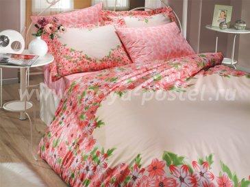 Двуспальное постельное белье из поплина «ESPERANZA», розовое в интернет-магазине Моя постель