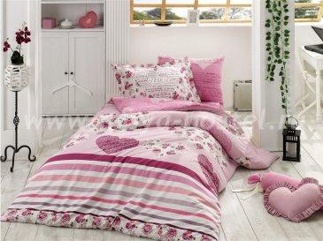 Семейное постельное белье из поплина «BELLA», фиолетового цвета в интернет-магазине Моя постель