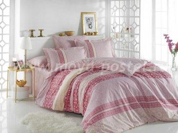 Постельное белье с орнаментом «EMMA» в розовом цвете, евро, материал поплин в интернет-магазине Моя постель