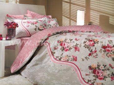 Постельное белье из поплина «SUSANA» розовое, двуспальное в интернет-магазине Моя постель