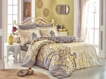 Постельное белье из поплина «MIRELLA» кофейного цвета, полутороспальное в интернет-магазине Моя постель