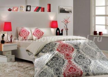 Кремовое постельное белье «ROYAL» с восточным узором, поплин, семейное в интернет-магазине Моя постель