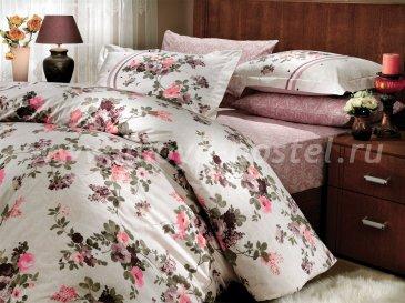 Постельное белье из поплина «SUSANA» цвета пепельная роза, семейное в интернет-магазине Моя постель
