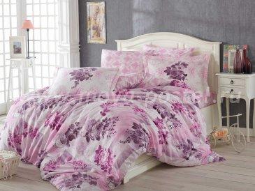 Нежно-розовый комплект белья Лилу двуспальный, хлопок в интернет-магазине Моя постель