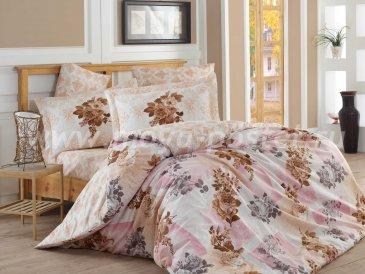 Бежевый комплект полутороспальный с пионами в интернет-магазине Моя постель