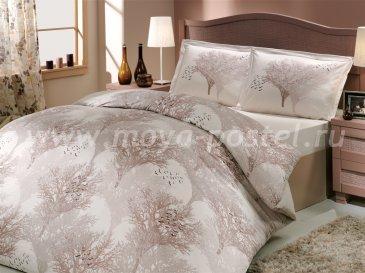 Постельное белье из поплина «JUILLET» кремового цвета с силуэтами деревьев, семейное в интернет-магазине Моя постель