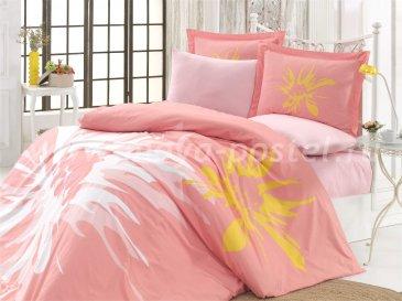Постельное белье «ROMANA» из поплина, персикового цвета, евро в интернет-магазине Моя постель