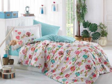Зеленое постельное белье с совами детское в интернет-магазине Моя постель