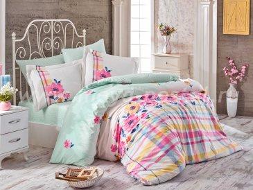 Розовое постельное белье «NORMA» евро размера, поплин в интернет-магазине Моя постель