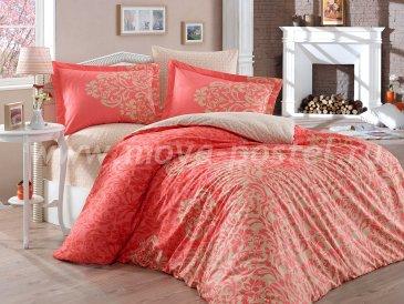 Красное постельное белье «SERENITY» из поплина, евро размер в интернет-магазине Моя постель