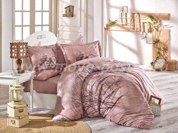 """Комплект постельного белья семейный поплин """"MARGHERITA"""", св.коричневый, 100% Хлопок в интернет-магазине Моя постель"""