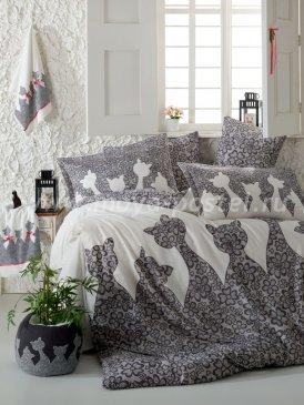 Постельное белье с кошками JAZZ полуторка в интернет-магазине Моя постель