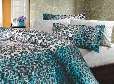 Комплект постельного белья с синим принтом в интернет-магазине Моя постель