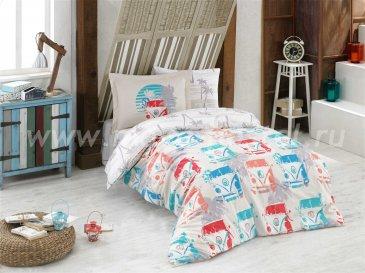 Кремовое постельное белье «RENATA», поплин, полуторное в интернет-магазине Моя постель