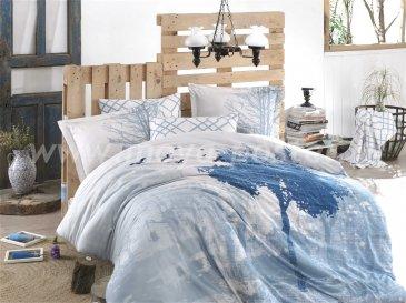 Голубое постельное белье поплин, 1,5ка в интернет-магазине Моя постель